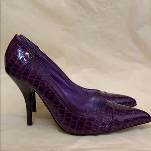 Purple Pointed Toe Stilettos